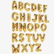 Folienballon Buchstaben Gold 3d model