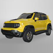 Jeep Renegade Yellow Trailhawk 2019 L070 model 3d model