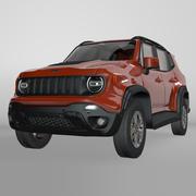 Model Jeep Renegade Red Trailhawk 2019 L071 3d model