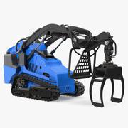 Mini Skid Steer Grapple Generic 3D Model 3d model