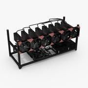 Plataforma de Mineração AMD 3d model