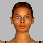 Реалистичная девушка Мария 3d model
