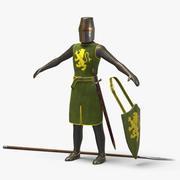 Rycerz z XIII wieku 3d model