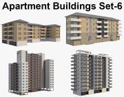4 Apartment Buildings Set_6 3d model