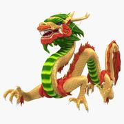 Colorful Traditional Chinese Dragon 3d model