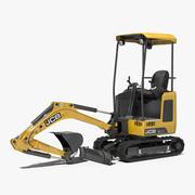 Clean Mini Excavator JCB 18Z1 3d model