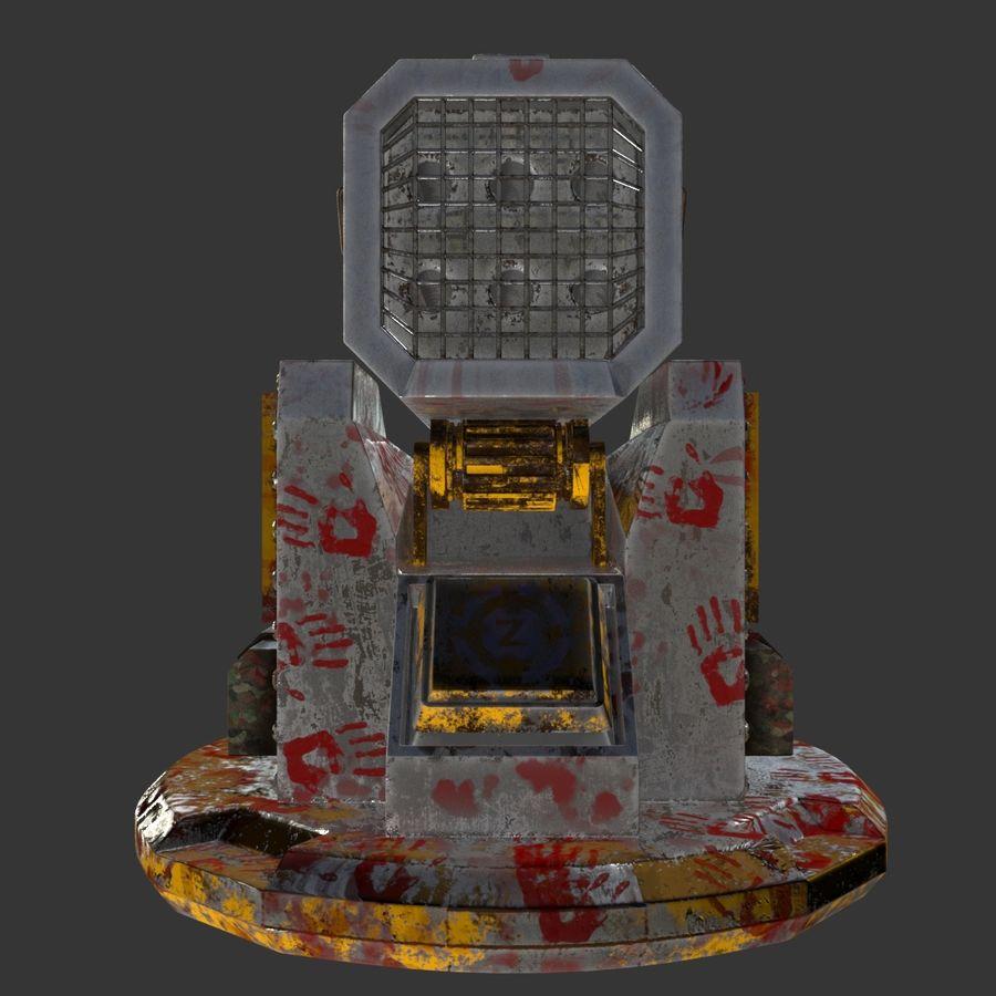 Wyrzutnia rakiet royalty-free 3d model - Preview no. 9