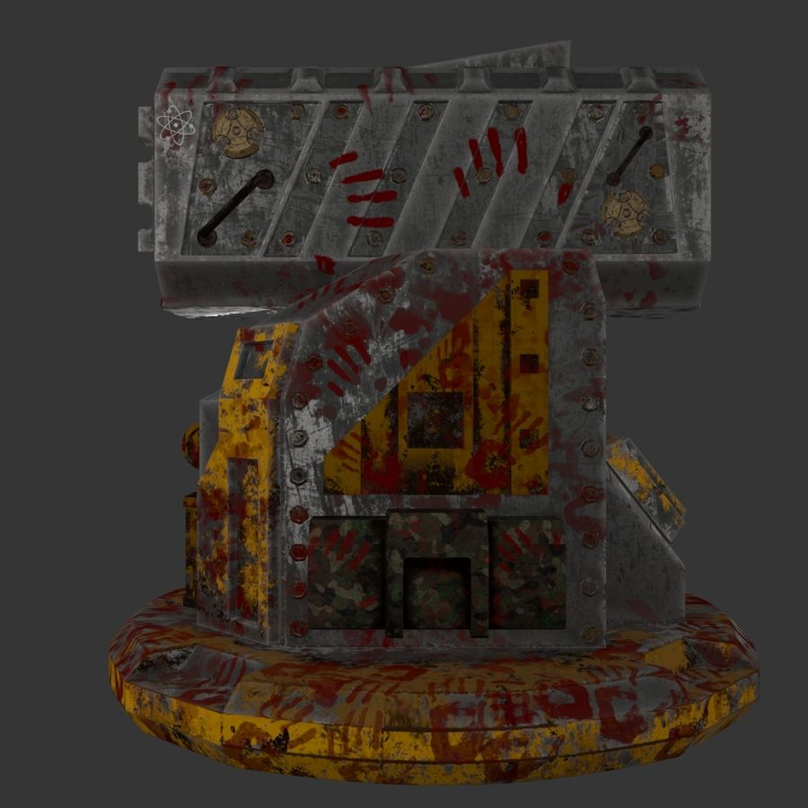 Wyrzutnia rakiet royalty-free 3d model - Preview no. 8