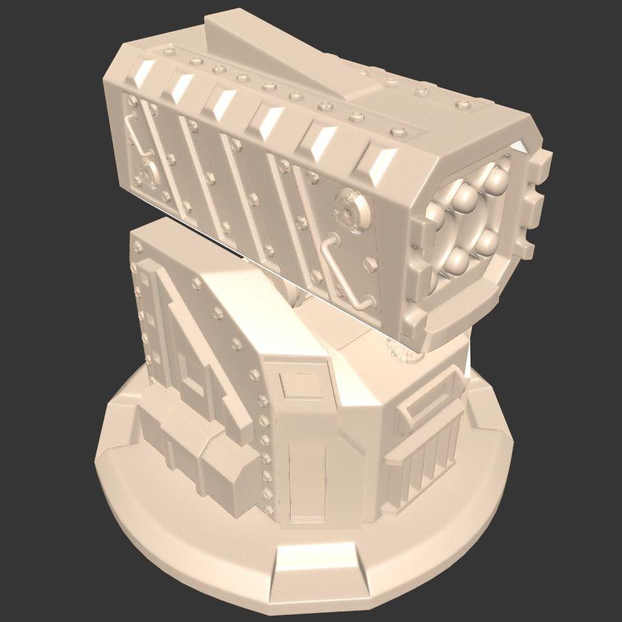 Wyrzutnia rakiet royalty-free 3d model - Preview no. 16