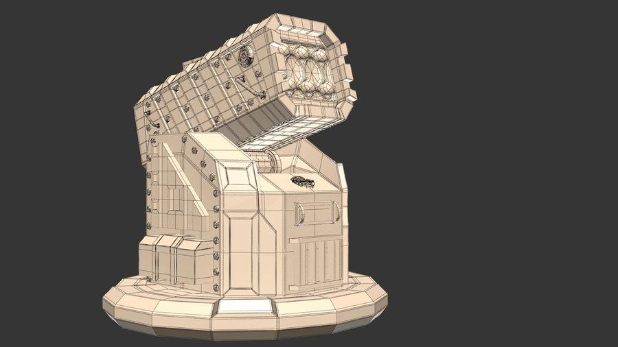 Wyrzutnia rakiet royalty-free 3d model - Preview no. 5