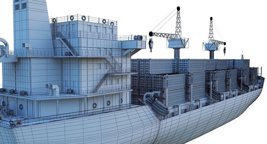 유조선 및 선적 컨테이너 선박 royalty-free 3d model - Preview no. 50