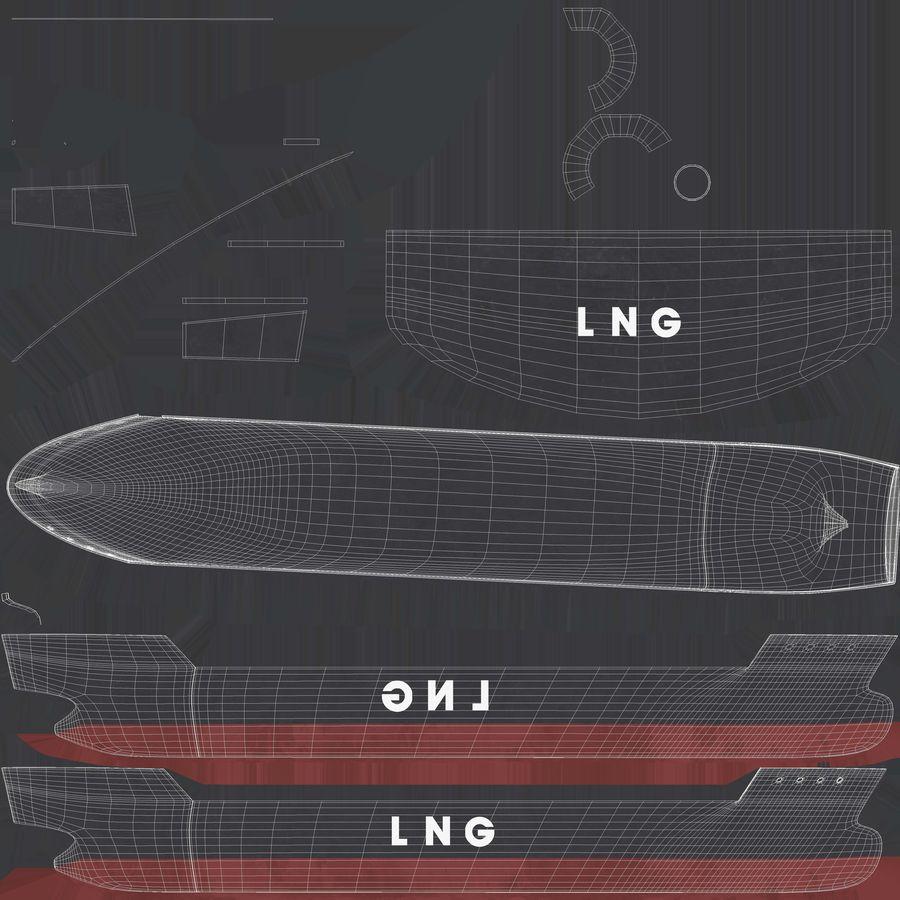 유조선 및 선적 컨테이너 선박 royalty-free 3d model - Preview no. 27