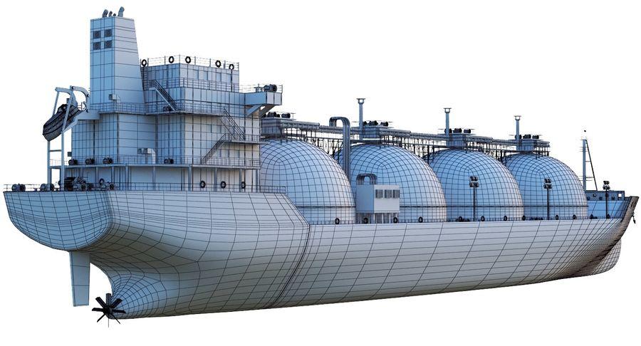 유조선 및 선적 컨테이너 선박 royalty-free 3d model - Preview no. 19