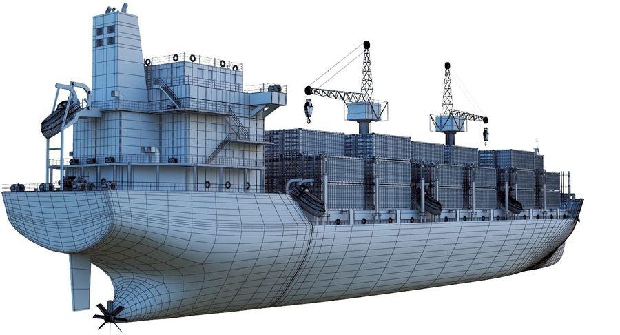 유조선 및 선적 컨테이너 선박 royalty-free 3d model - Preview no. 51