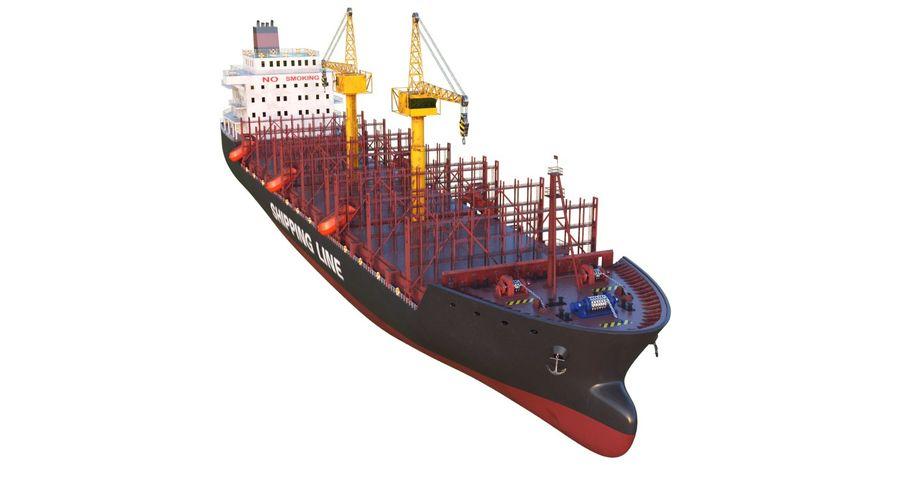 유조선 및 선적 컨테이너 선박 royalty-free 3d model - Preview no. 29