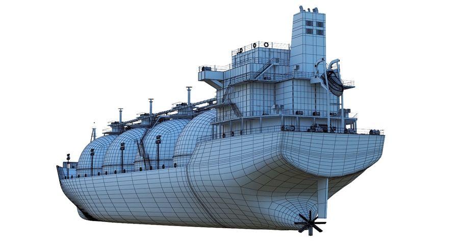 유조선 및 선적 컨테이너 선박 royalty-free 3d model - Preview no. 21