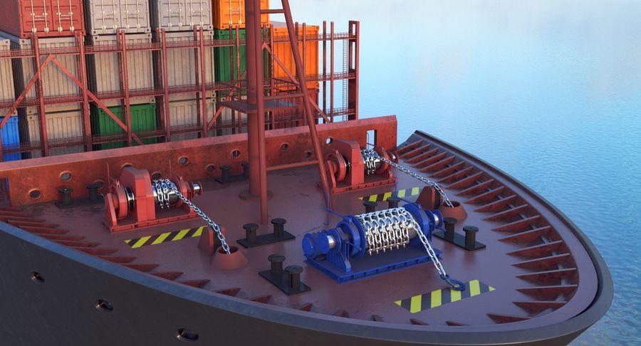 유조선 및 선적 컨테이너 선박 royalty-free 3d model - Preview no. 37