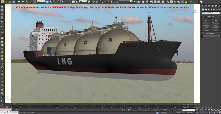 유조선 및 선적 컨테이너 선박 royalty-free 3d model - Preview no. 22
