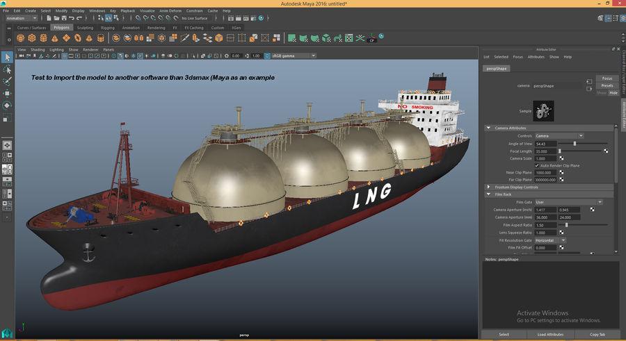 유조선 및 선적 컨테이너 선박 royalty-free 3d model - Preview no. 23