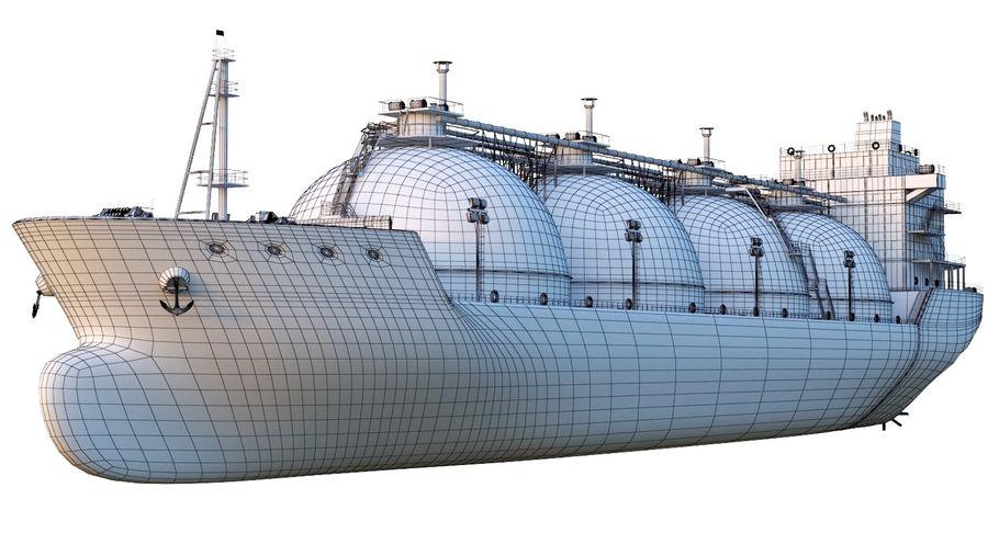 유조선 및 선적 컨테이너 선박 royalty-free 3d model - Preview no. 20