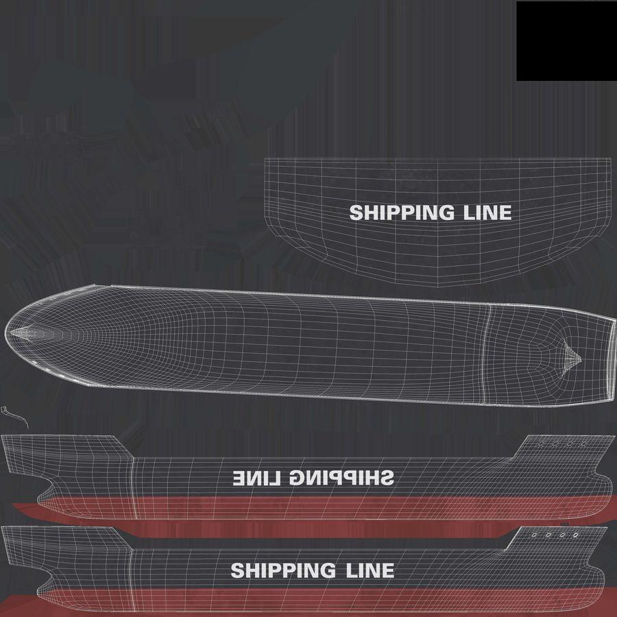 유조선 및 선적 컨테이너 선박 royalty-free 3d model - Preview no. 54