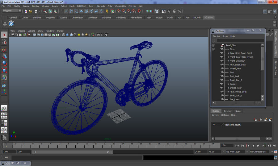 Road Bike royalty-free 3d model - Preview no. 13