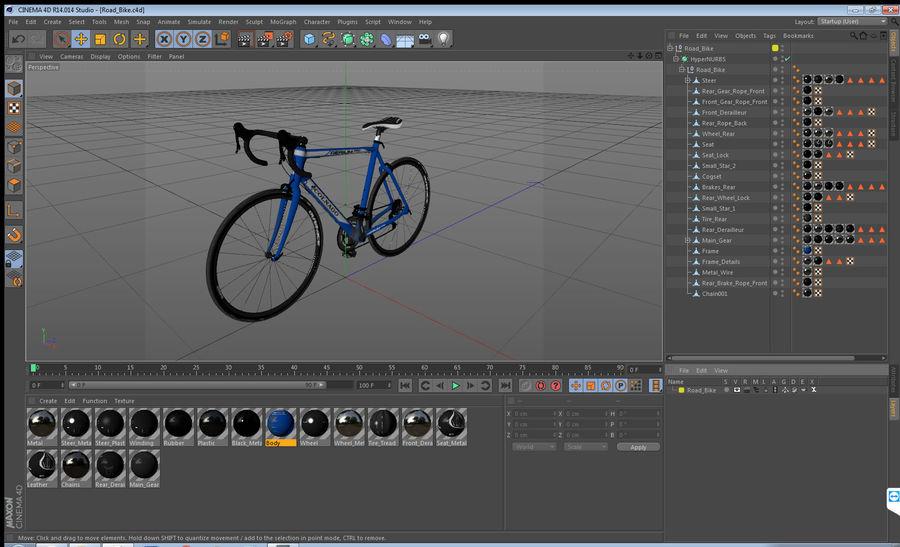 Road Bike royalty-free 3d model - Preview no. 14