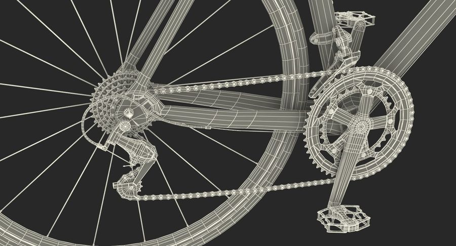 Road Bike royalty-free 3d model - Preview no. 19