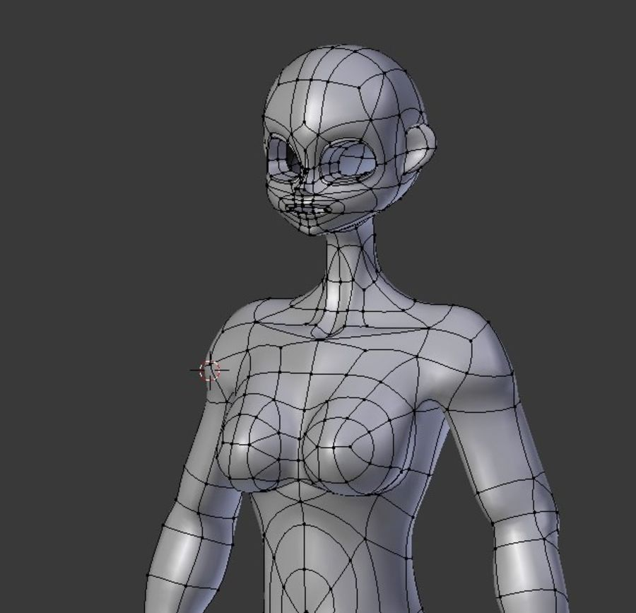 漫画の女性の身体 royalty-free 3d model - Preview no. 2
