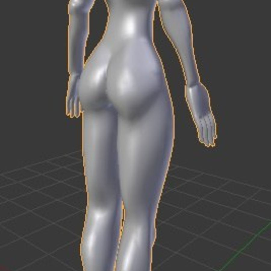 漫画の女性の身体 royalty-free 3d model - Preview no. 6