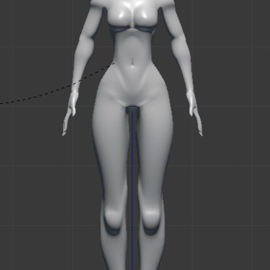 漫画の女性の身体 royalty-free 3d model - Preview no. 1