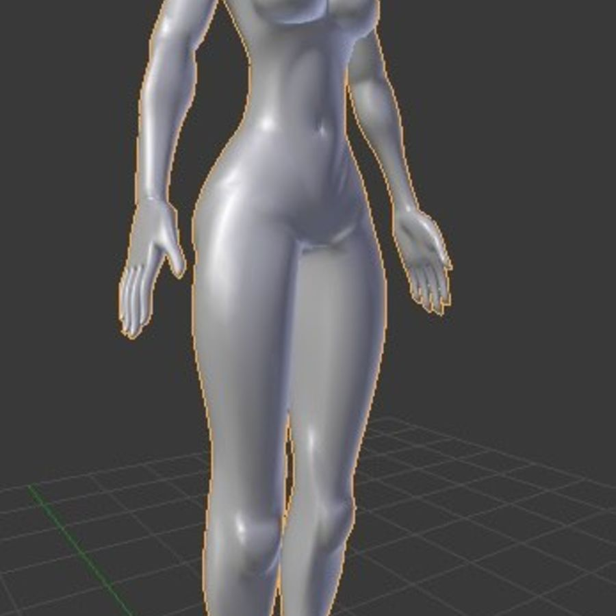 漫画の女性の身体 royalty-free 3d model - Preview no. 5