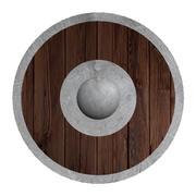 Средневековый круглый щит 3d model