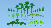 Collection nature Lowpoly 3d model