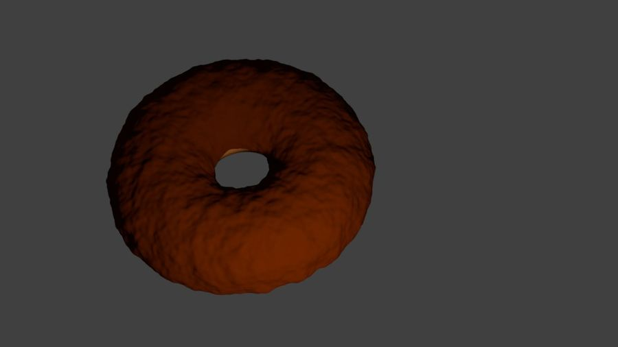 Ciambella Al Cioccolato royalty-free 3d model - Preview no. 2