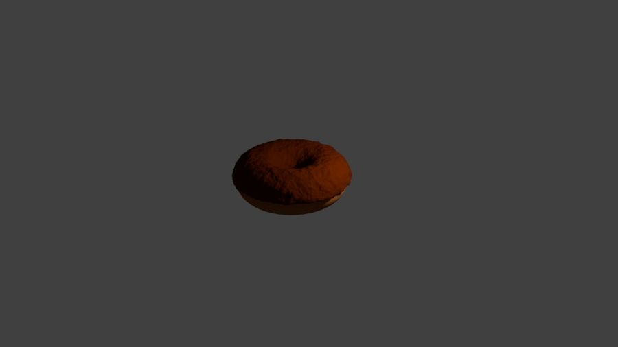 Ciambella Al Cioccolato royalty-free 3d model - Preview no. 4
