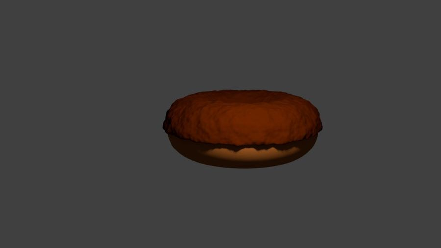 Ciambella Al Cioccolato royalty-free 3d model - Preview no. 1