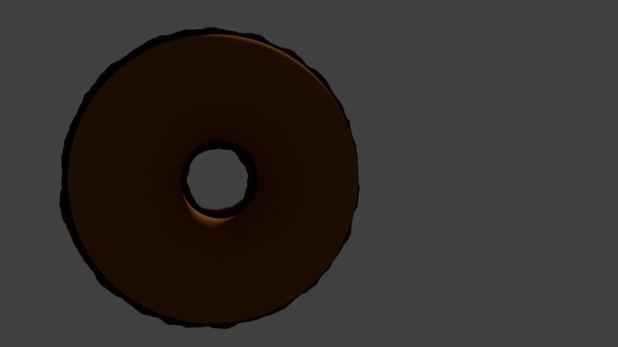 Ciambella Al Cioccolato royalty-free 3d model - Preview no. 5
