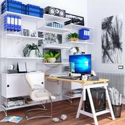 宜家办公家具 3d model