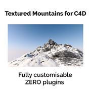 Paisagem de neve com textura 3d model