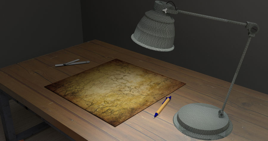 Simple Room royalty-free 3d model - Preview no. 2