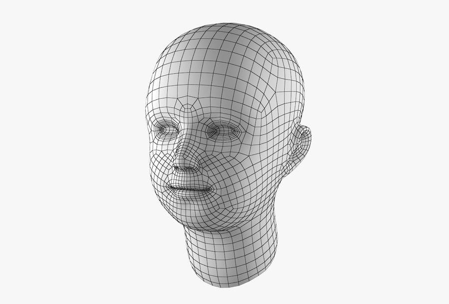 Rapaz Basemesh Cabeça royalty-free 3d model - Preview no. 30