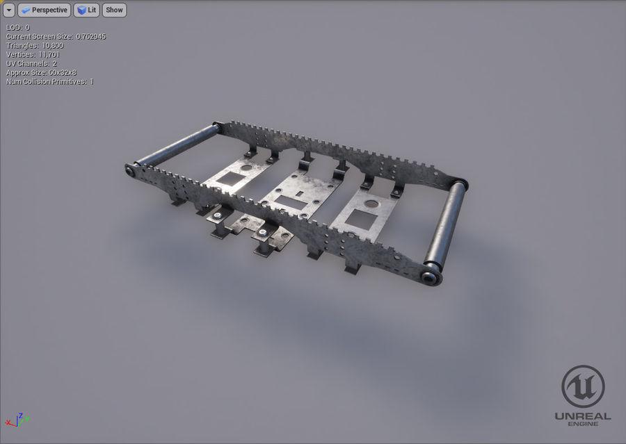 机械零件 royalty-free 3d model - Preview no. 9