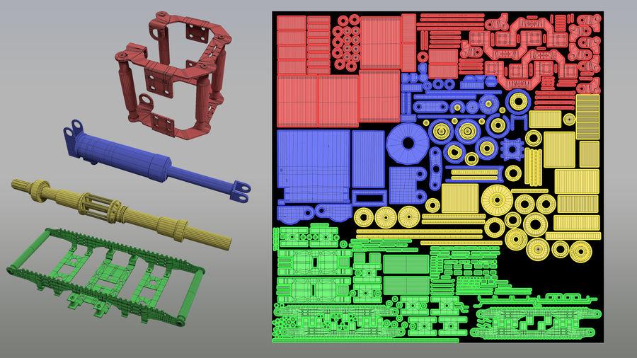 机械零件 royalty-free 3d model - Preview no. 4