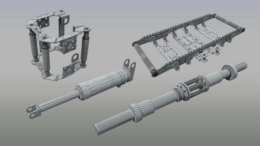 机械零件 royalty-free 3d model - Preview no. 3