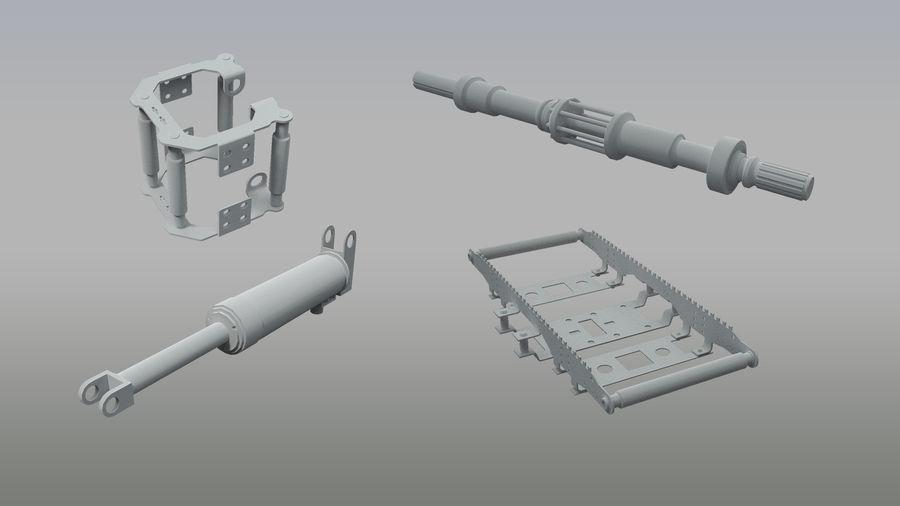机械零件 royalty-free 3d model - Preview no. 2