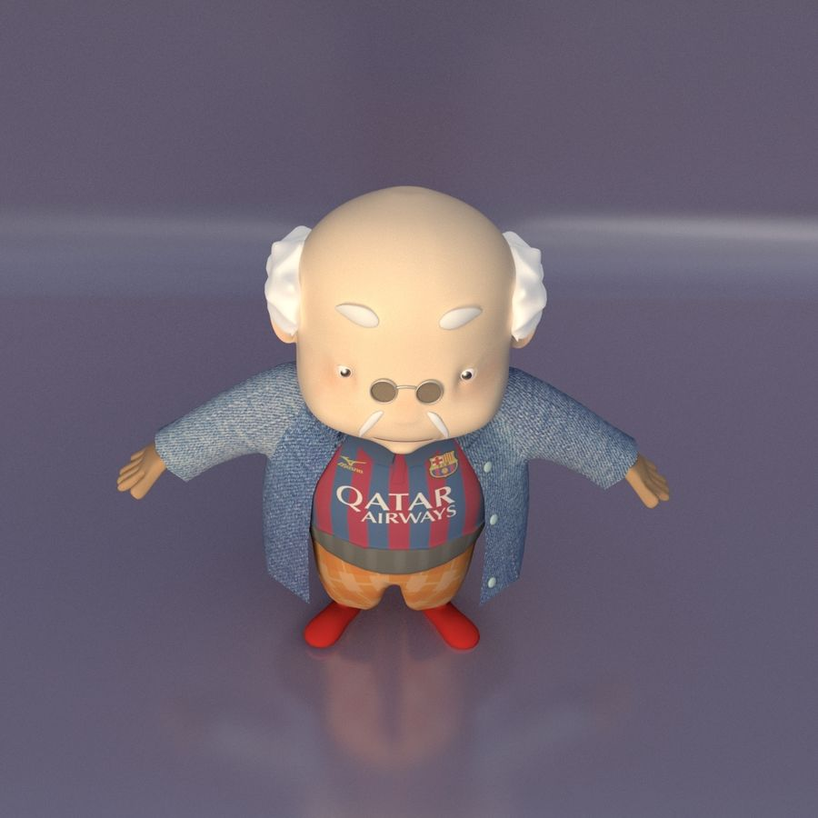 Velhote royalty-free 3d model - Preview no. 6