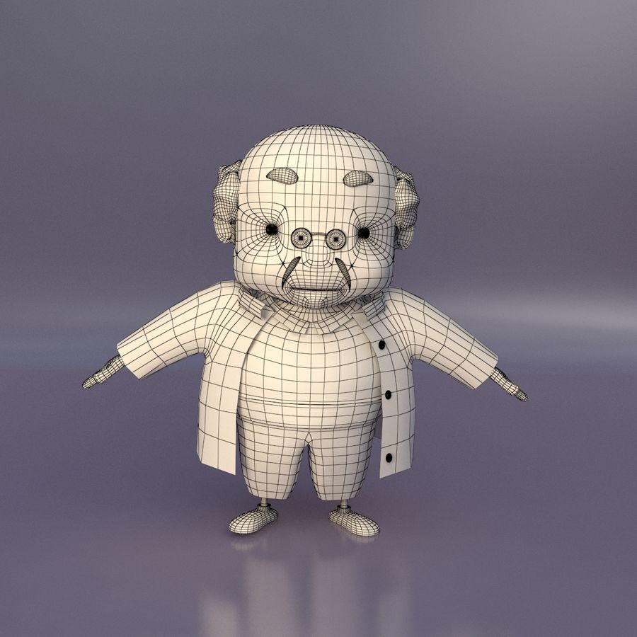 Velhote royalty-free 3d model - Preview no. 7