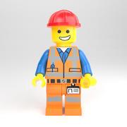 LEGO minifiguur - Bouwvakker 3d model