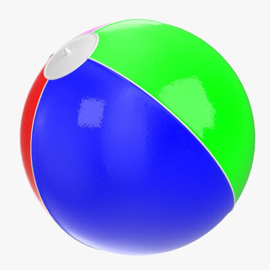 Inflatable beach ball royalty-free 3d model - Preview no. 10